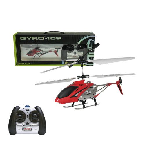 1toy GYRO-109 верт. с гироскопом ИК алюм.3 канала18,5см.USB-зарядка.; 27 МГц; 8,2 мВт