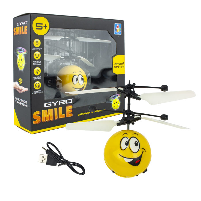 1toy Gyro-Smile, игрушка на сенсорном управлении, со светом, акб, коробка