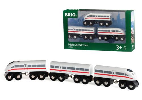 BRIO пассажир.поезд-экспресс со звуком,3 дерев.ваг.,35х3х5см,кор.