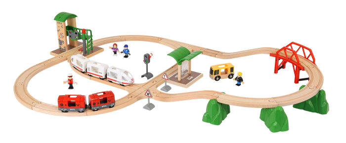 BRIO Игровой набор Городское путешествие, со световыми и звуковыми эффектами (41 элемент) 100,2х71,8 см., батарейки вкл., кор. 45х39х16 см