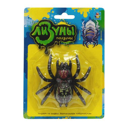 1toy Мелкие пакости Лизуны паук в асс. ползает по стенам, 8,5 см блистер