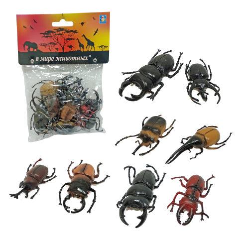 1toy В мире животных: жуки, 8 шт, пакет с хед