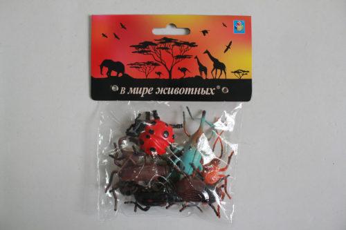 1toy В мире животных: насекомые, 8 шт, пакет с хед