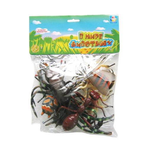 1toy В мире животных наб.игр.насекомых 6 шт х 15 см. в упаковке ПВХ c хедером 31х23х4 см