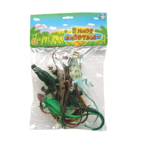 1toy В мире животных наб.игр.ящериц 6 шт х 15 см. в упаковке ПВХ с хедером