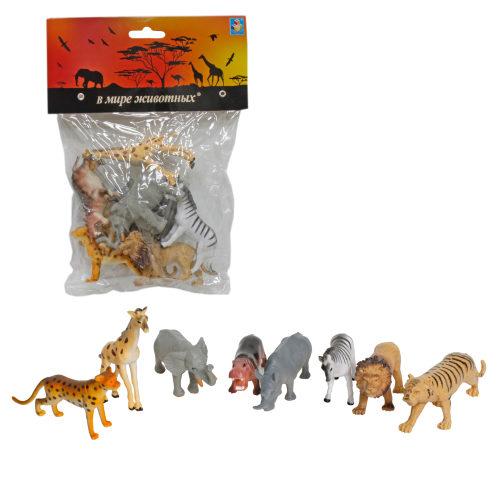 1toy В мире животных дикие жив.Африки 8шт.в пак.с хедером