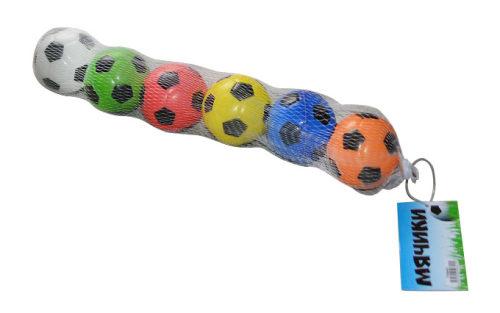 1toy набор мячей PU, футбольные, 6,3 см, 6шт в сетке