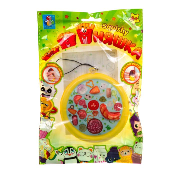 1toy игрушка-антистресс мммняшка squishy (сквиши),пицца 23 гр.