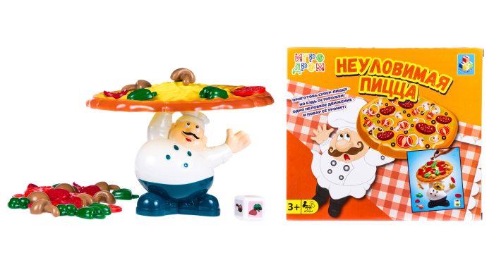1toy ИГРОДРОМ Игра настольная Неуловимая пицца