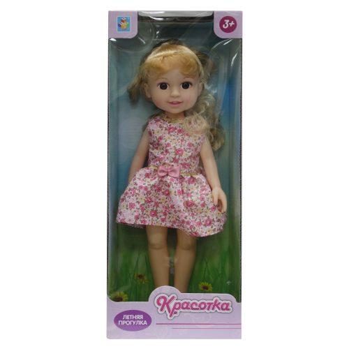 Кукла Красотка Летняя прогулка, блонд, роз платье 14х8х36 см