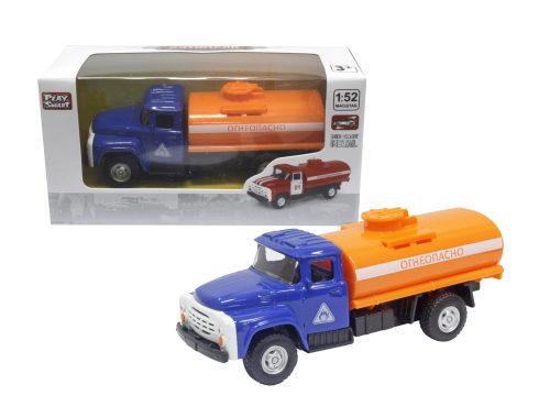 Play Smart 1:52 инерционный металлический грузовик(огнеопасно)-красный 16x6x7,65см