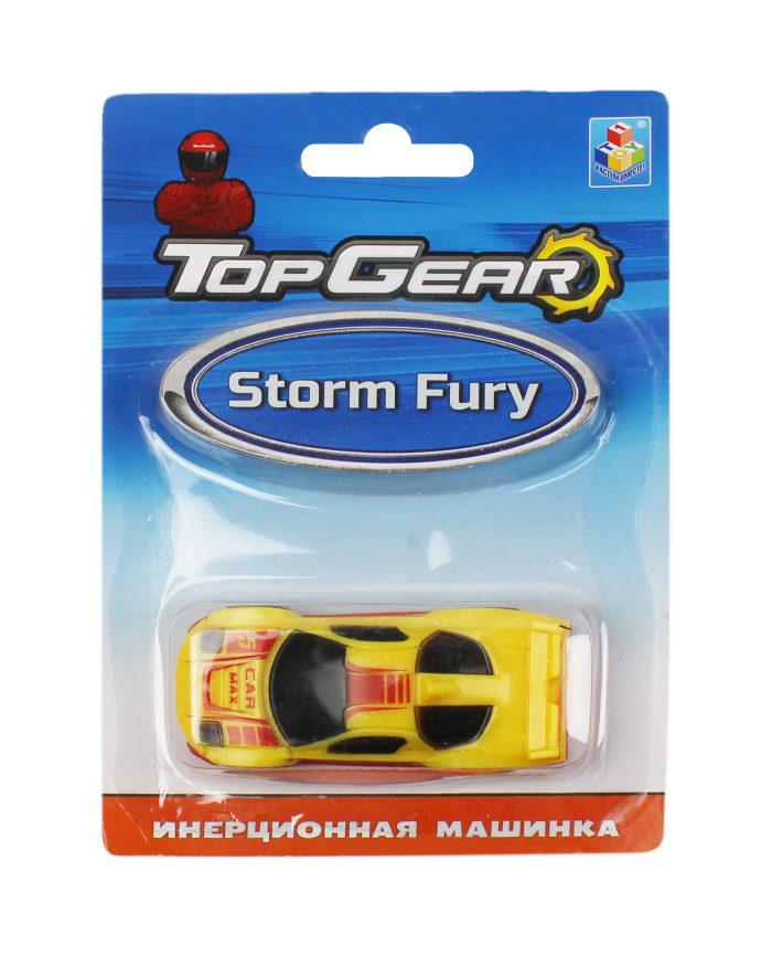 1toy Top Gear пласт. машинка Storm Fury, инерц. блистер