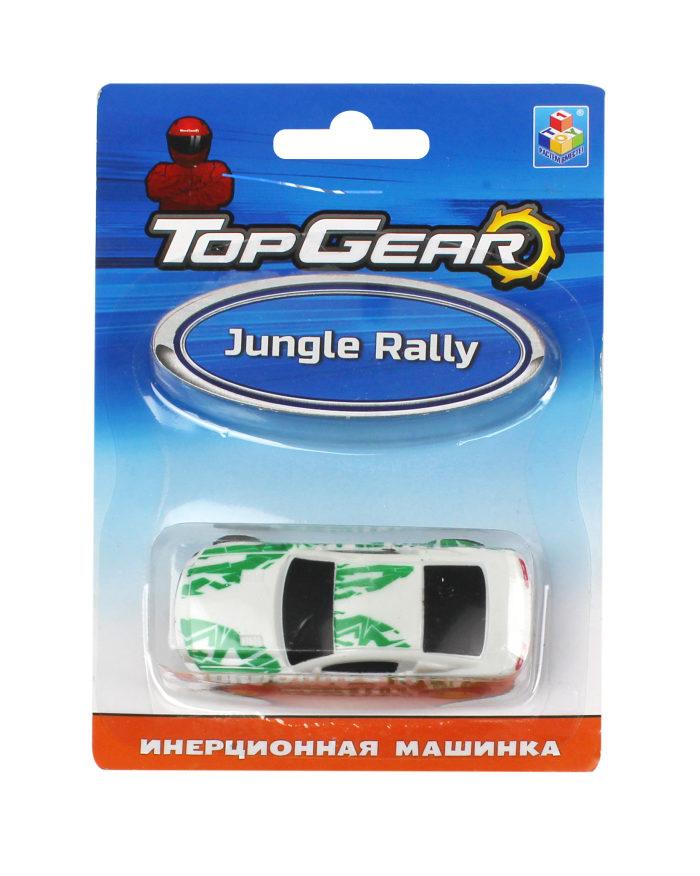 1toy Top Gear пласт. машинка Jungle Rally, инерц. блистер