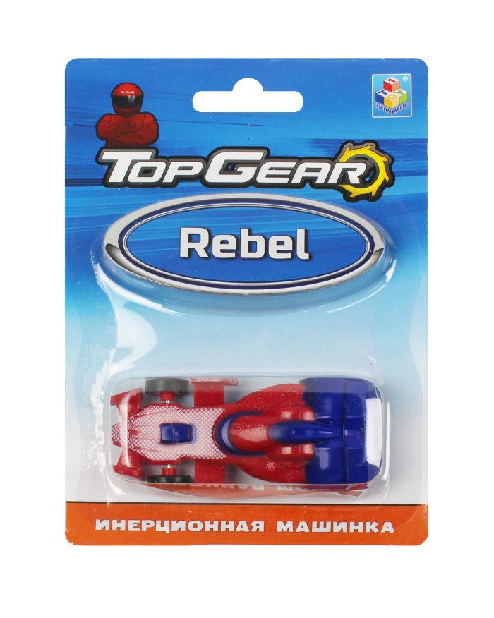 1toy Top Gear пласт. машинка Rebel, 8см, инерц. блистер
