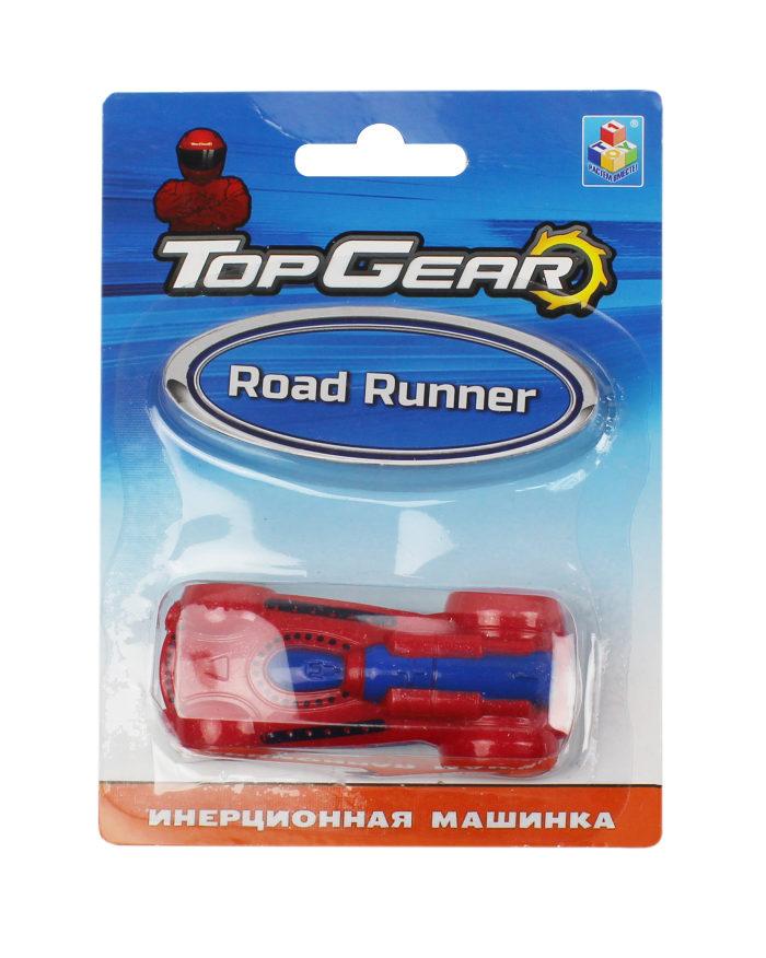 1toy Top Gear пласт. машинка Road Runner, 8см, инерц. блистер