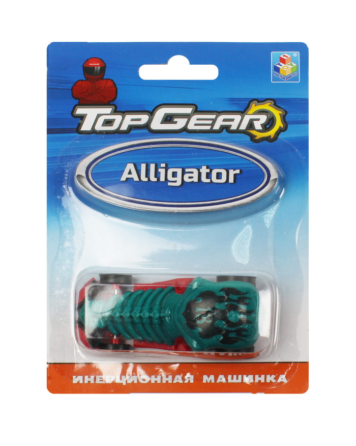1toy Top Gear пласт. машинка Alligator, инерц. блистер