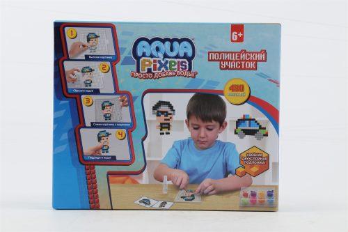 1toy Aqua Pixels, квадрат. детали, 480 дет Полицейский участок