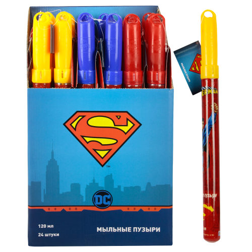1toy Superman, мыл.пуз., колба в термоплёнке, 120 мл., д/б