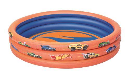 Надувной бассейн Hot Wheels 122х25см, 140 л.