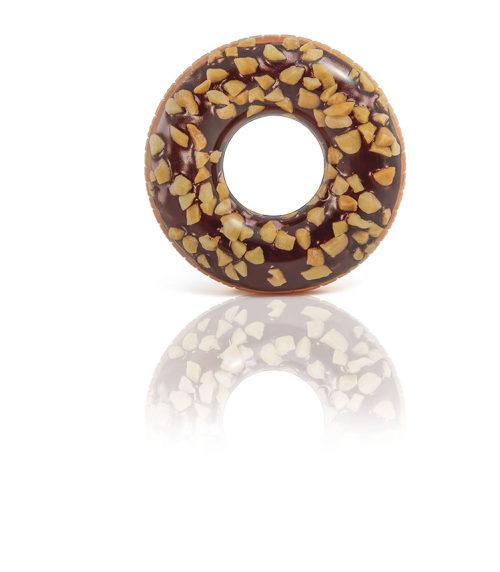 Надувной круг пончик шокол.-орех.114см от 9лет