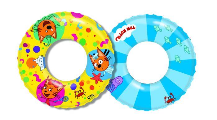 надувной круг Три Кота 56см от 3-6лет