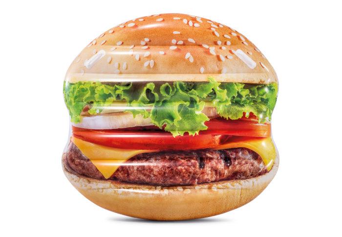 Надувной матрас для плавания гамбургер с ручками 145х142см