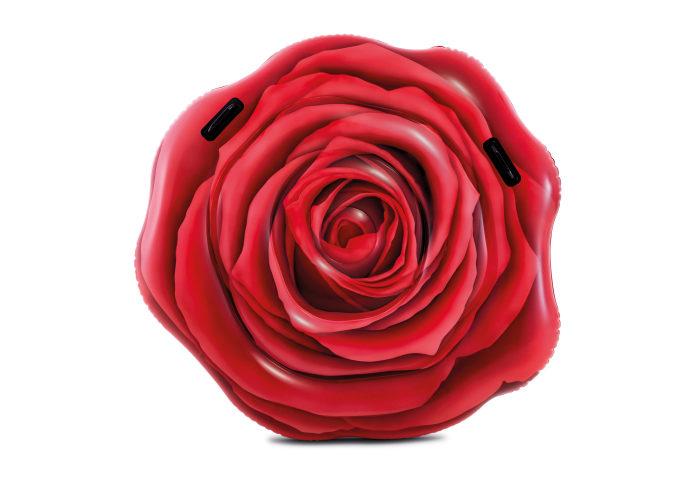 Надувной матрас для плавания роза с ручками 137х132см
