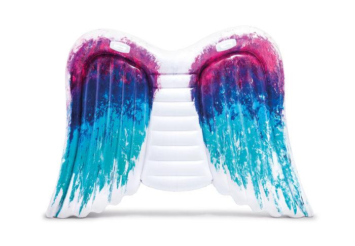 Надувной матрас для плавания крылья ангела с ручками 251х160см