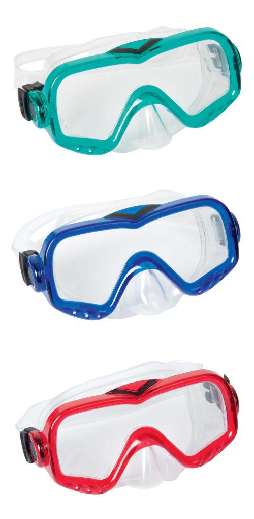 Плавательная маска морские виденья от 14лет 3 цв. в асс-те