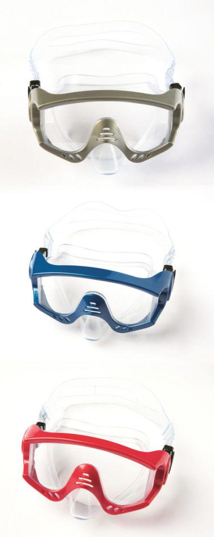 Плавательная маска тигровый пляж от 14лет 3 цв. в асс-те