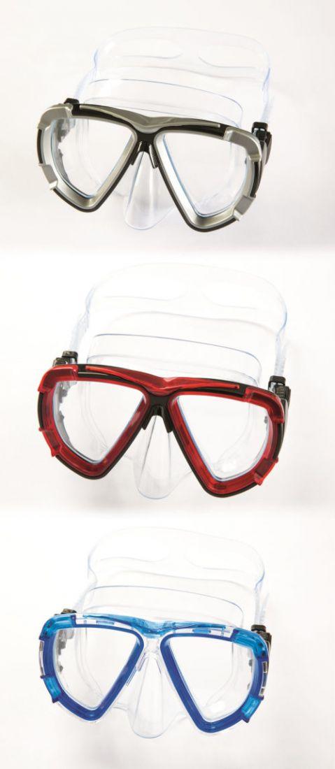 Плавательная маска черная лента от 14лет 3 цв. в асс-те