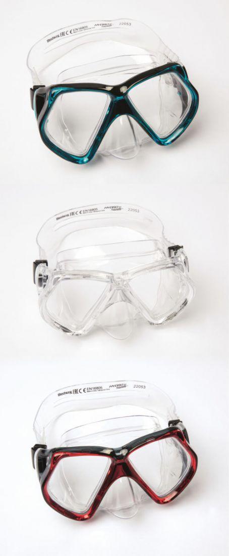 Плавательная маска кристальный взгляд от 14лет 3 цв. в асс-те