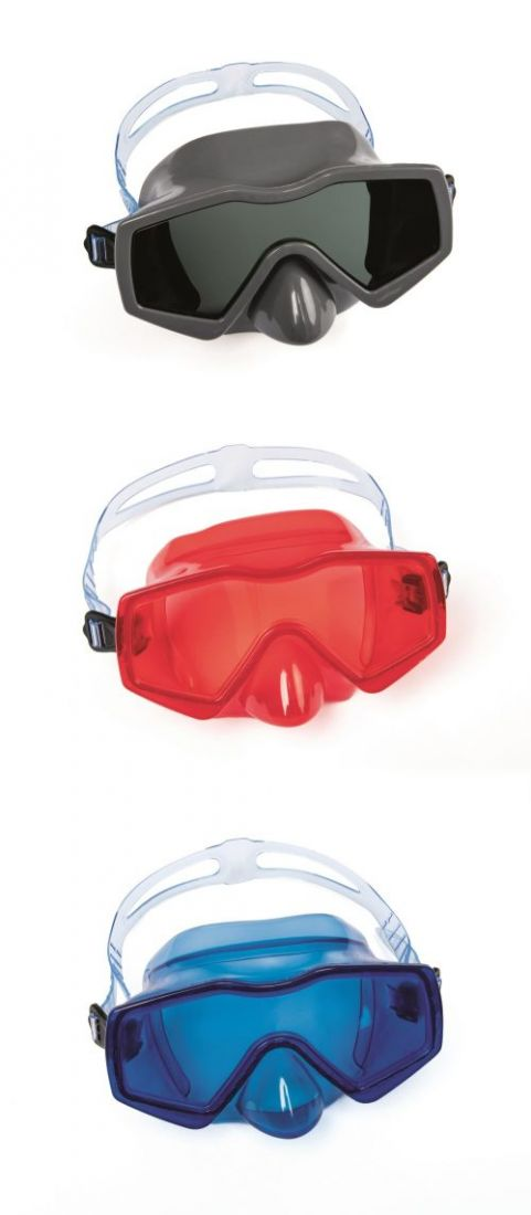 Плавательная маска аква прайм от 14лет 3 цв. в асс-те