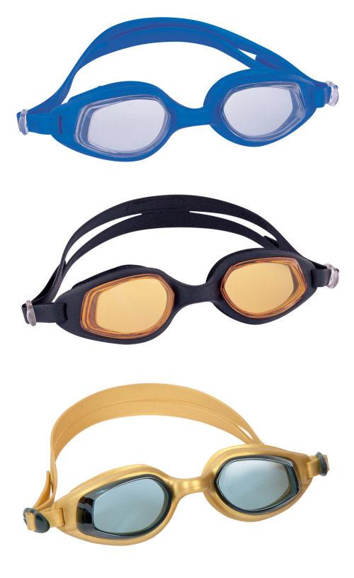 очки для плавания ускорение 3 цв. в асс-те