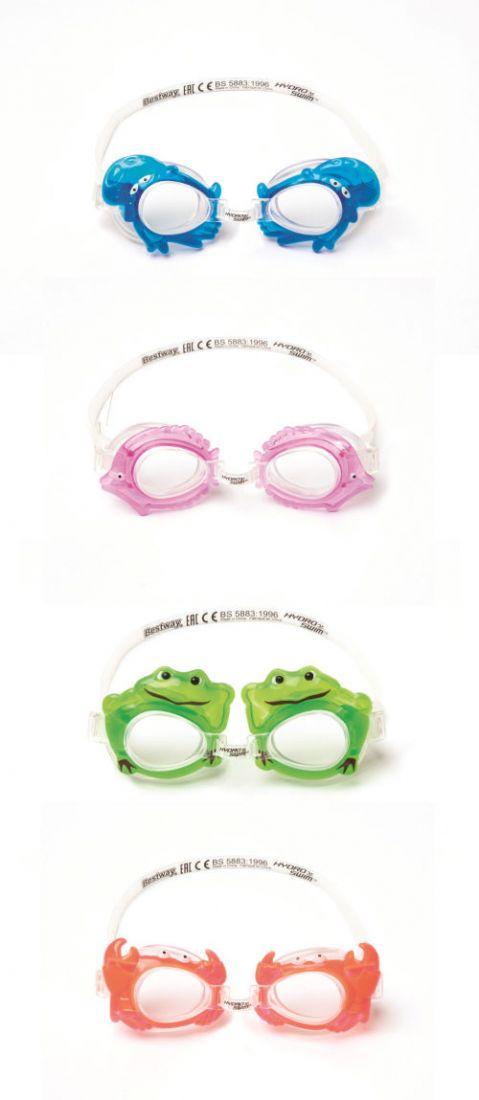 очки для плавания морские животные от 3лет 4 диз. в асс-те