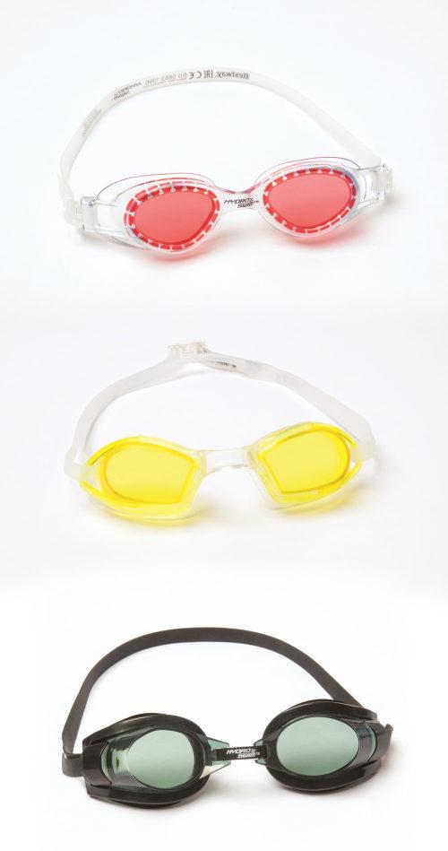 очки для плавания фокус от 7лет 3 цв.