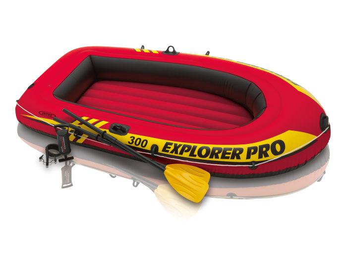 Надувная лодка эксплорер про 300, 244х117х36см, весла, ручн.нас.