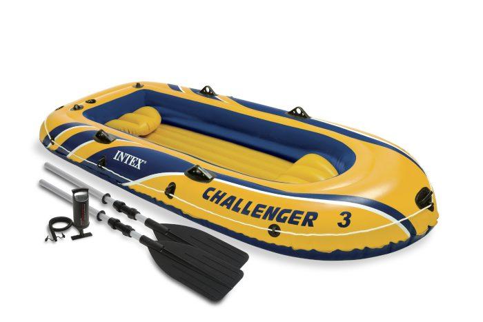 Надувная лодка челленджер-3 295х137х43см/весла алюм./насос ручной