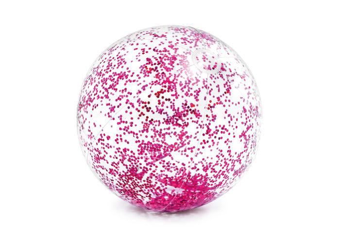 Надувной мяч блёстки 71см, 2 цв. от 3лет