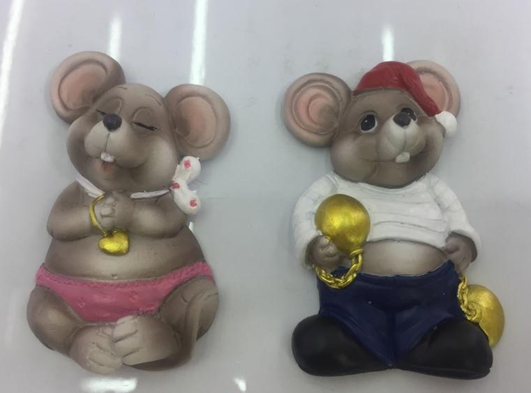 Магнит симв.года крыса 6 см.,в асс.2 крысы, в пак.