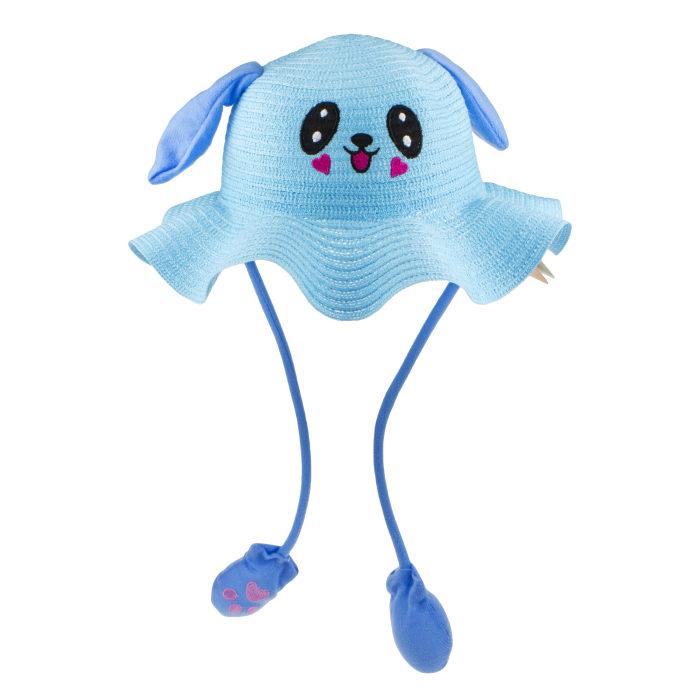 1TOY Хлоп-Ушки, шляпка летняя с глазками, с поднимающимися ушками, 5 цветов.