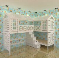 Кровать-чердак Домик угловой Felicia №8А (трехместная)