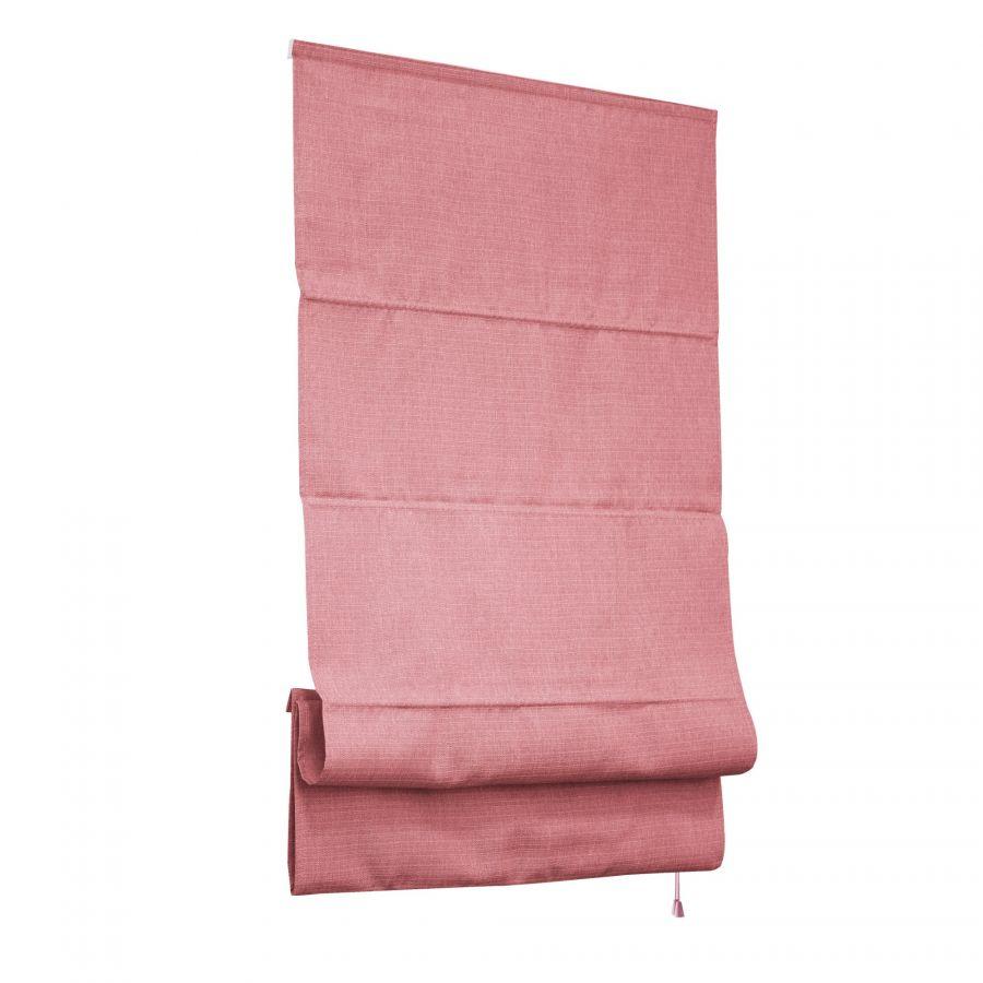 Римская штора Натур 160х175 см, розовый