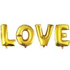 Шар Фигура Мини Надпись LOVE золото 41 см