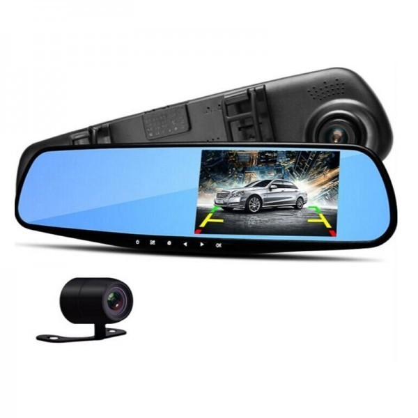 Зеркало - видеорегистратор с камерой заднего вида Vehicle Blackbox DVR