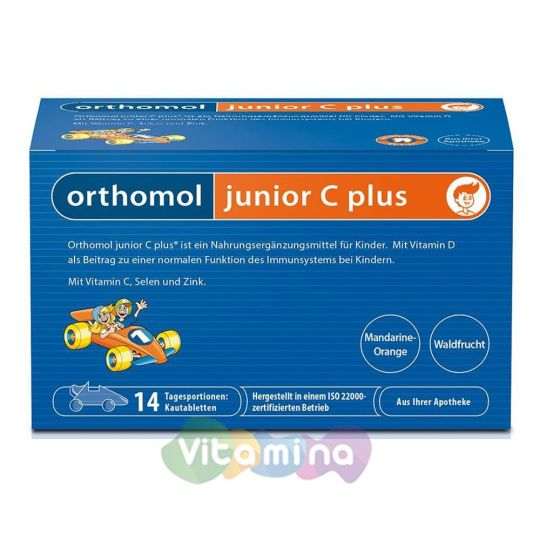 Ортомол Джуниор C Плюс. Витамины для детей, 14 шт