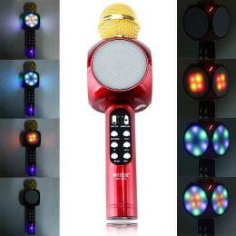 Беспроводной караоке микрофон с цветомузыкой WS1816