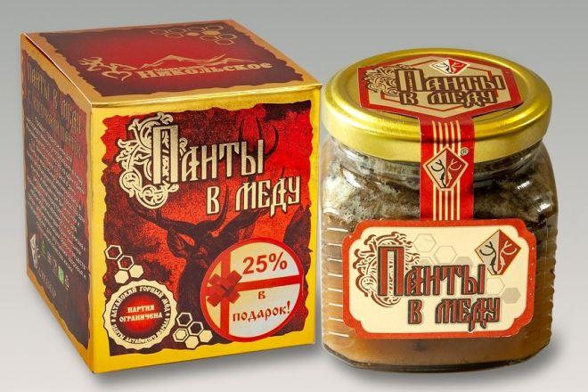 Панты в меду (с кусочками) 250 г. Алтамар
