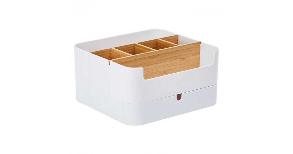 Канцелярский органайзер Xiaomi ZEN's Bamboo Multi-Function Storage Box White (Q/FJWJ-2017)