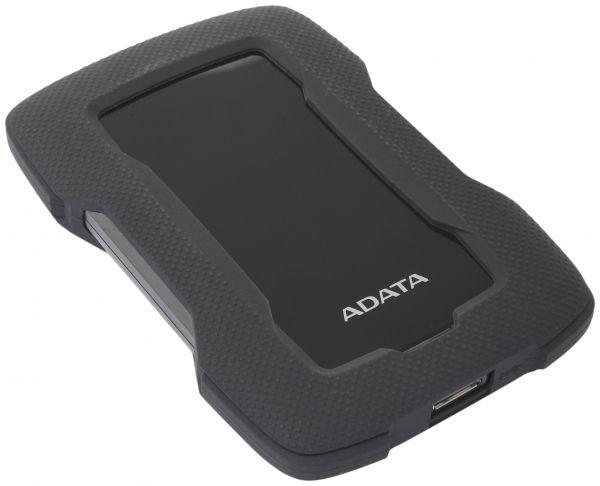 4TB внешний жесткий диск ADATA HD330  USB3.1  черный Силиконовый чехол, вибродатчик.